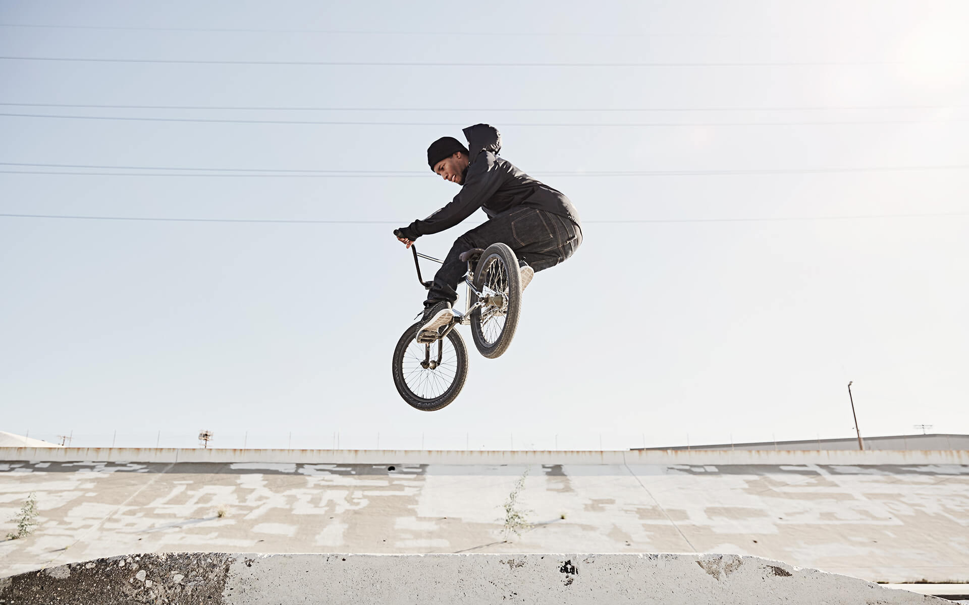 Unified Content, Unified Content Toronto, Aaron Cobb, Andrew Jackson, BMX, bicycle motocross, LA, Los Angeles, Los Angeles Athletes, Athletes, Biker, Jump, Athlete, sports photography, action shot,