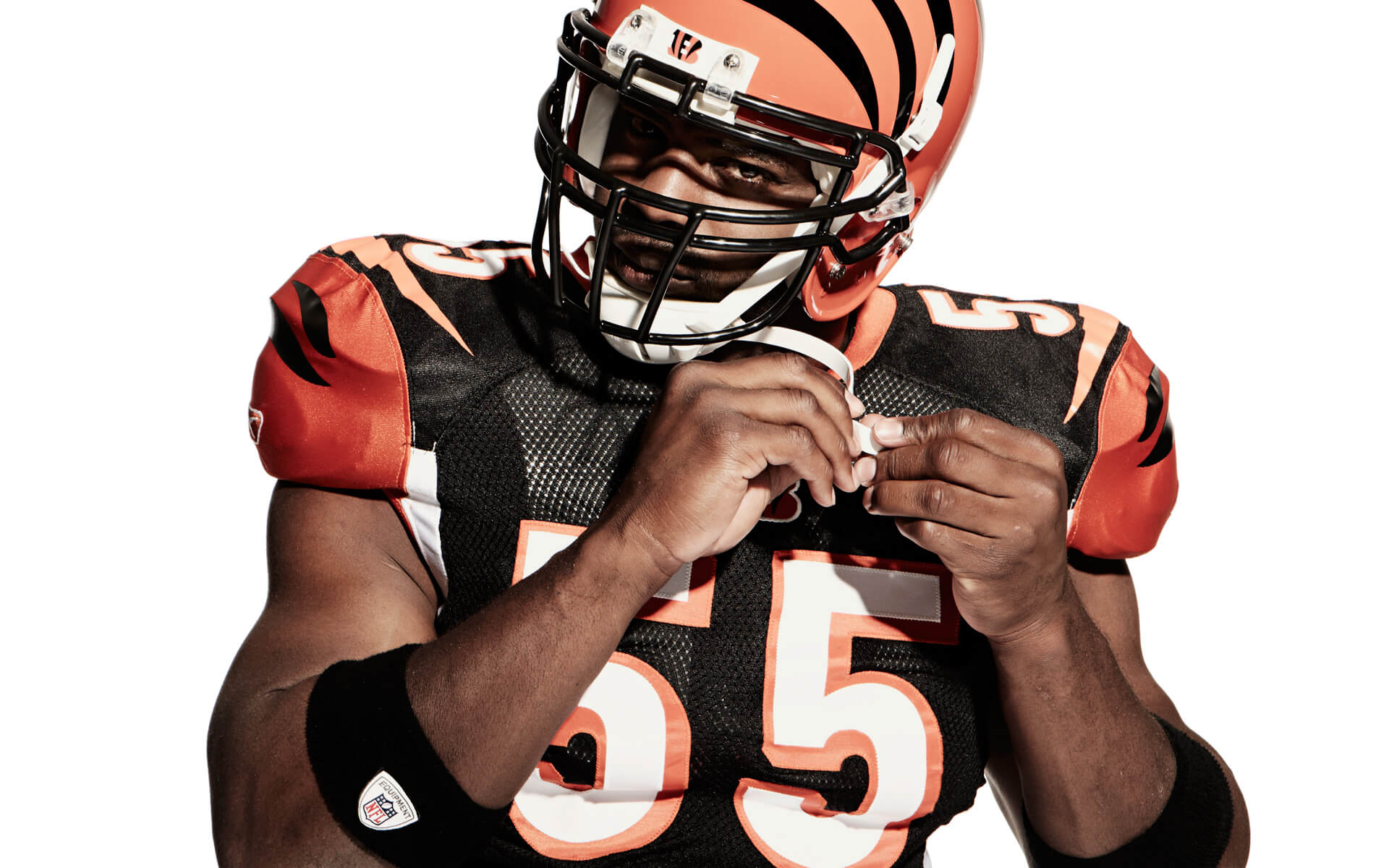 Unified Content, Unified Content Toronto, Aaron Cobb, Verizon, Football, Studio, Portrait, Action, Athlete, Studio Portrait, Athlete Portrait, Keith Rivers, Bengals, Cincinnati Bengals, American Football, NFL