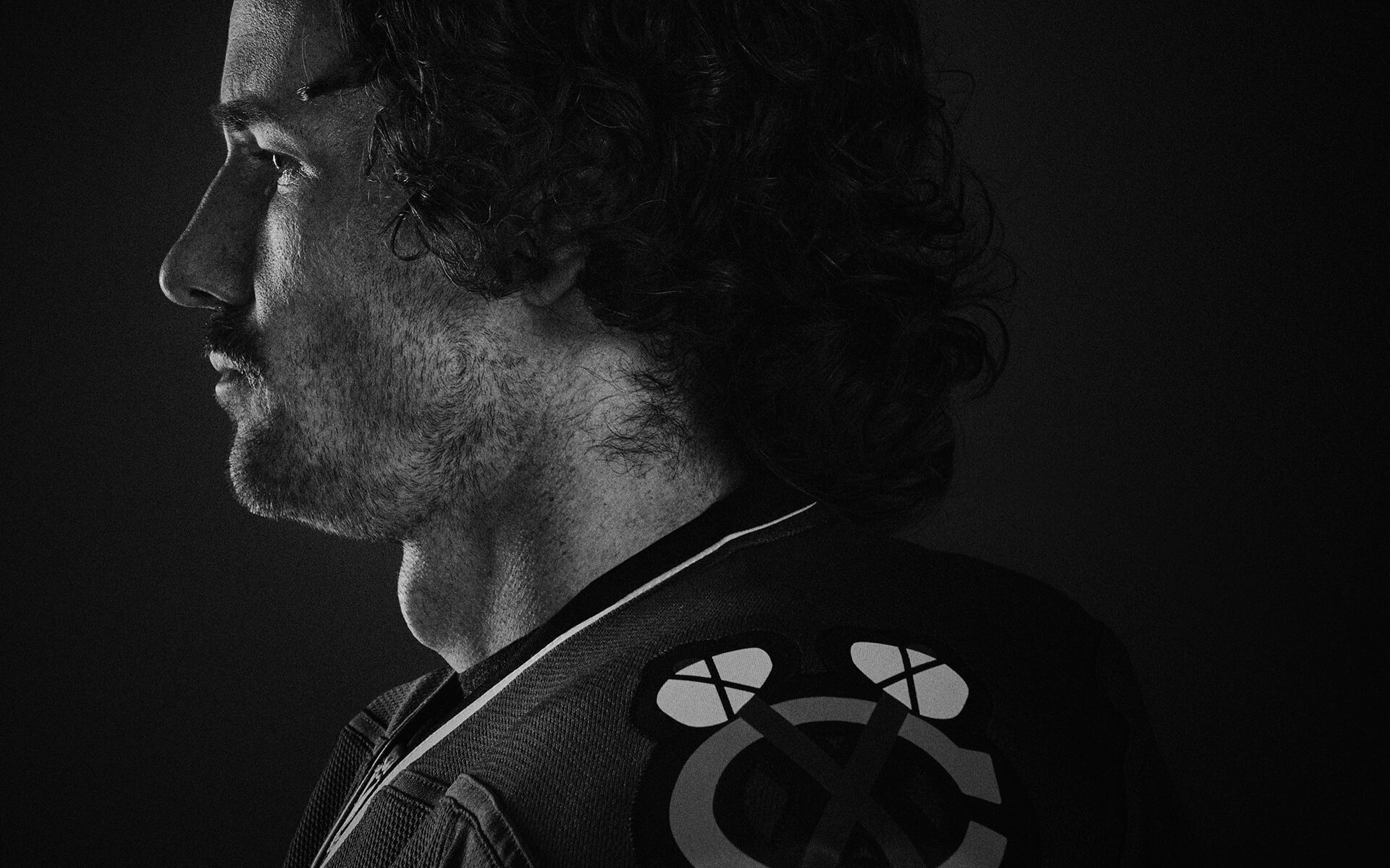 Unified Content, Unified Content Toronto, Aaron Cobb, Visa, Athletes, Duncan Keith, Dramatic, Action, Headshot, Advertising, Black and White,