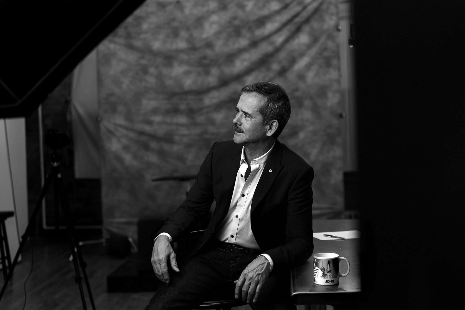 Unified Content toronto, Unified Content, Max Rosenstein, Chris Hadfield, Astronaut, Chris Hadfield Astronaut, Canadian Astronaut, Chris Hadfield Masterclass, NASA, International Space Station, Space Exploration, Photography, Portrait, Portrait photography, black and white portrait, black and white photography, toronto, toronto photography, advertising, advertising toronto, toronto advertising
